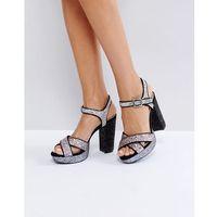 glitter platform sandal - multi marki London rebel