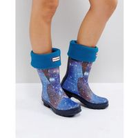 original blue short boot socks - blue marki Hunter