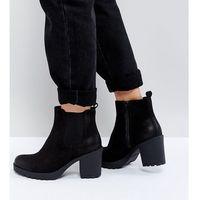 Vagabond grace black leather ankle boots - black