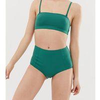 Monki high waisted mix & match bikini brief in green - Green, bikini