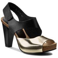 Sandały NESSI - 42103 Czarny 11/Złoty F, kolor czarny
