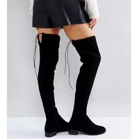 Asos keep up wide fit extra wide leg over the knee boots - black, Asos design