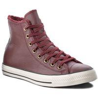 Sneakersy CONVERSE - Ctas Winter Knit Fur Hi 553366C Deep Bordeaux/Black/Egret, kolor czerwony
