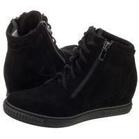 Sneakersy Venezia Czarne 1123C CAM NER (VE124-a), kolor czarny