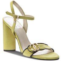 Sandały R.POLAŃSKI - 0874 Limonka Zamsz, w 4 rozmiarach