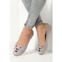 Szare Balerinki Lovely Kitty, kolor szary