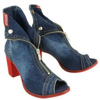40c289 jeans, botki damskie, Lanqier