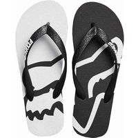Fox Japonki - beached flip flops black/white (018)