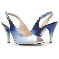Sandały Stagórs 079 Granat lakier cieniowany, kolor niebieski
