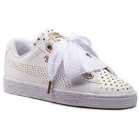 Sneakersy - basket heart ath lux wn's 366728 01 puma white/puma white marki Puma