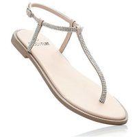 Sandały japonki bonprix cielisty, 1 rozmiar