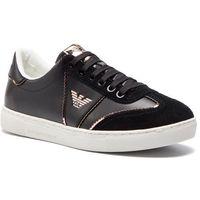 Sneakersy EMPORIO ARMANI - X3X083 XL842 A327 Black/Black/Nude, kolor czarny