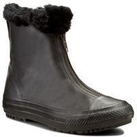Botki CONVERSE - Ctas Boot Shroud Leather+Fur X 553350C Black/Black/Black