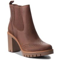 Botki - casual heeled chelse fw0fw03058 winter cognac 906, Tommy hilfiger, 36-42