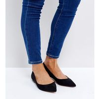 ASOS LATCH Pointed Ballet Flats - Black