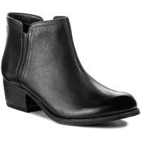 Botki CLARKS - Maypearl Ramie 261294864 Black Leather, 35.5-37.5