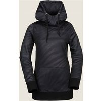 Volcom Bielizna aktywna - yerba p/over fleece black on black (bkb) rozmiar: s