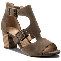 Sandały CLARKS - Deloria Kay 261318674 Olive Suede