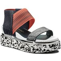 Sandały UNITED NUDE - Rico Sandal 1030444646108 Black And White Mix/Neon Red/Navy