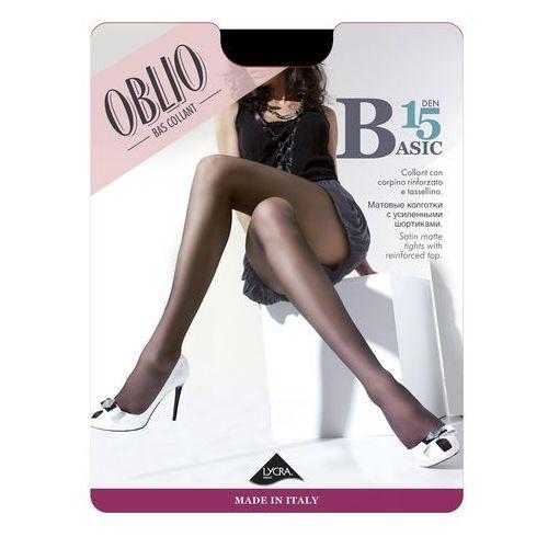 Rajstopy Oblio Basic 15 den 2-4 4-L, grafitowy/londra, Oblio, 8000577159264