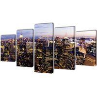 vidaXL Zestaw obrazów Canvas 200 x 100 cm Nowy Jork z lotu ptaka (8718475902959)
