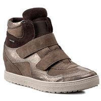 Sneakersy GEOX - D Amaranth H. B D52S9B 022AL C1B9H Dove Grey/Lead, kolor brązowy