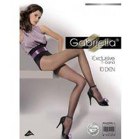 Rajstopy exclusive 10 den rozmiar: 3-m, kolor: beżowy/beige, gabriella, Gabriella