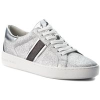 Sneakersy MICHAEL MICHAEL KORS - Keaton Stripe 43T8KTFS2D Silver/Blk, 1 rozmiar