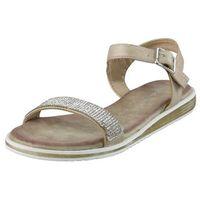 Sandały 701-18 - beżowe, S.barski