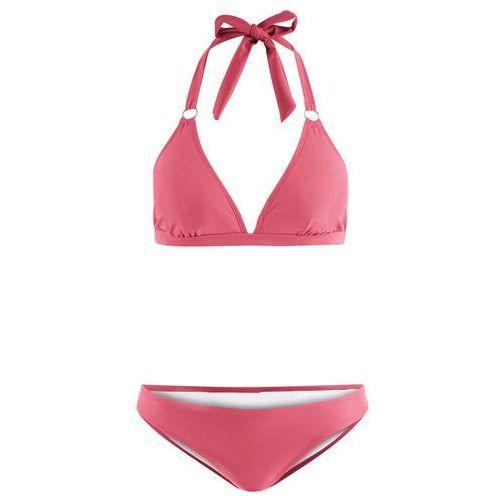 Bikini z ramiączkami wiązanymi na szyi (2 części) bonprix jeżynowy, bikini