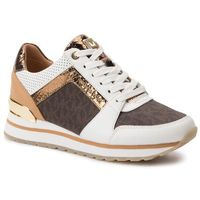 Sneakersy MICHAEL MICHAEL KORS - Billie Trainer 43T9BIFS1L Op Wht/Brown, kolor brązowy