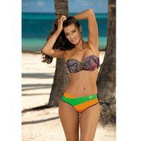 Kostium Kąpielowy Model Margaret Blu Scuro-Incas-Crickiet M-377 Navy/Green/Orange