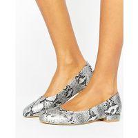 snake print ballet flats - silver marki Raid