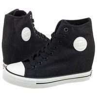 Big star Sneakersy czarne brokatowe w274674 (bi53-b)