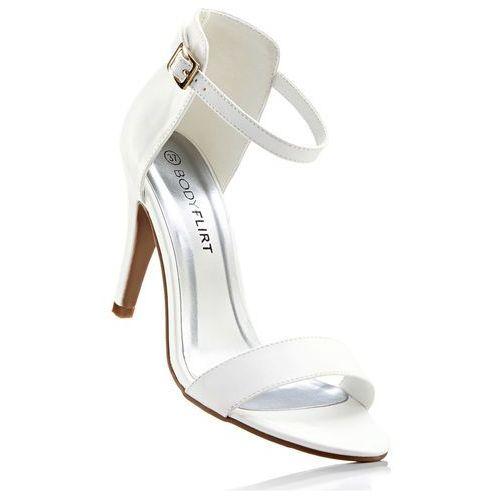 Sandały bonprix biały, kolor biały