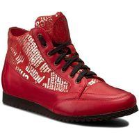 Sneakersy - 513 czerw. lico/zł. gazeta marki Roberto