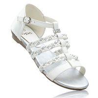 Bonprix Sandały biało-srebrny