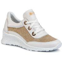 Sneakersy NESSI - 20681 Biały/Złoto, w 5 rozmiarach