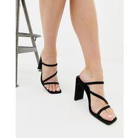square toe sandal in black - black marki New look