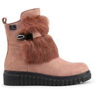 Buty za kostkę botki damskie LAURA BIAGIOTTI - 5164-71, kolor różowy