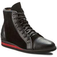 Sneakersy NEŚCIOR - 097-H Czarny R/Czarny Zam, kolor czarny