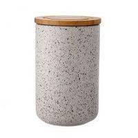 Ladelle Ceramiczny pojemnik z bambusowym wieczkiem 17 cm stak speckled grafitowy ld-61100 (9314689797665)
