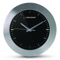 Esperanza  zegar ścienny houston czarny (ehc011k) darmowy odbiór w 21 miastach! (5901299929803)