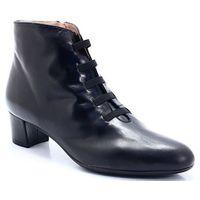 BRENDA ZARO T1780 CZARNE - Hiszpańskie botki, kolor czarny
