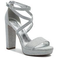Sandały MICHAEL MICHAEL KORS - Charlize Platform Glitter 40T9CHHS1D Silver