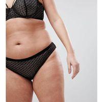 ASOS CURVE Gianna Diamond Lace Brazilian Pant - Black