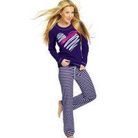 If piżama paula długi rękaw, Italian fashion