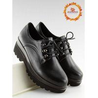 Półbuty na wysokiej podeszwie czarne q-9 black 37 marki Obuwie damskie