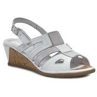 Sandały - 710602 biały szary, Comfortabel, 36-37