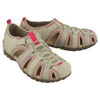 d7125u sand strel c1010 lt grey, sandały damskie marki Geox